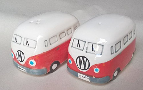 Funshopping Camper Van Salt And Pepper Sets Gifts Ceramic Red