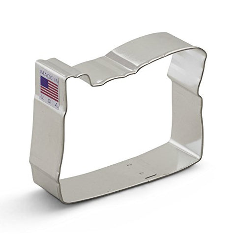 Ann Clark Oregon Cookie Cutter - 3.25 Inches - Tin Plated Steel
