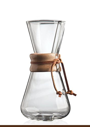 Chemex Classic Glass Coffee Maker With Foxgallery Guide, 3-Cup