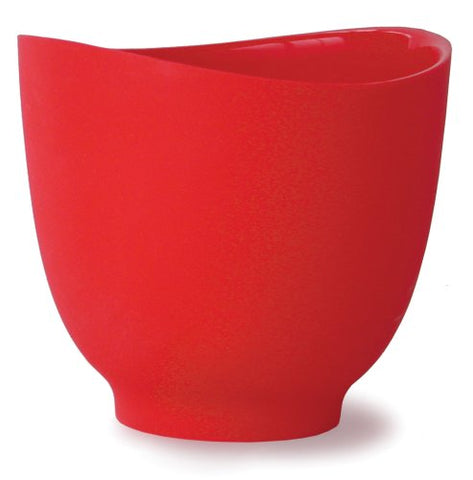 Isi Basics Flexible Silicone Mixing Bowl, One Quart, Red