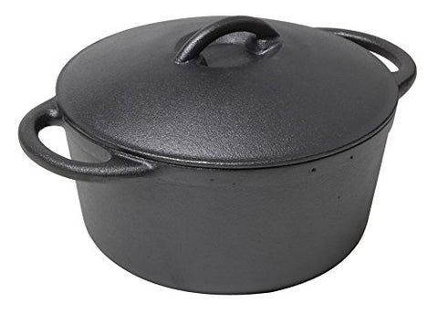 Country Cabin 46514-2 Pre-Seasoned Cast Iron Dutch Oven, 3-Quart