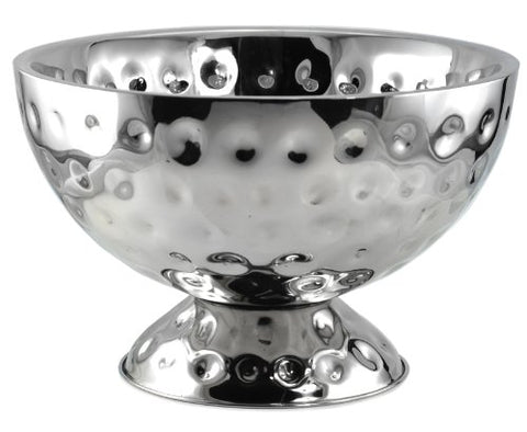 Tannex Cosmo Stainless Steel Double Wall Champagne Bowl, 121/2-Inch, Silver