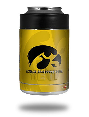 Iowa Hawkeyes Herkey Black On Gold - Decal Style Skin Wrap Fits Yeti Rambler Colster And Rtic Can (Cooler Not Included)