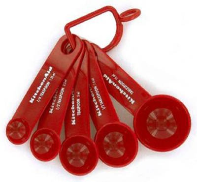 Kitchenaid Measuring Spoons, Set Of 5, Red