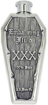 3Oz Embalming Fluid Xxx Pewter Emblem Coffin Flask