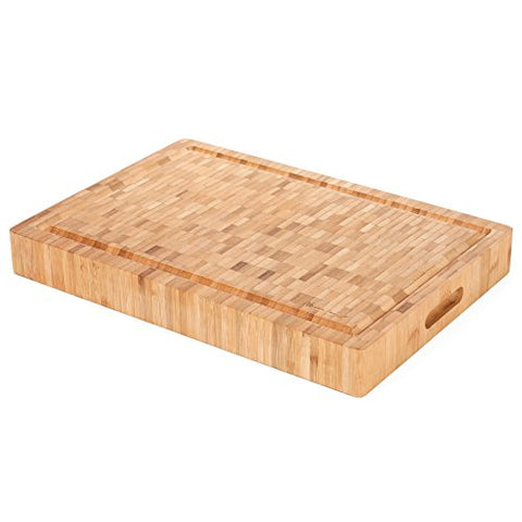 Heim Concept 1Pc Premium Large [17 X 12 X 2] Organic Bamboo Butcher Block Chopping Board Cutting Board, Professional Grade