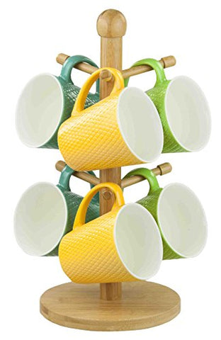 Home Basics Bamboo Mug Tree