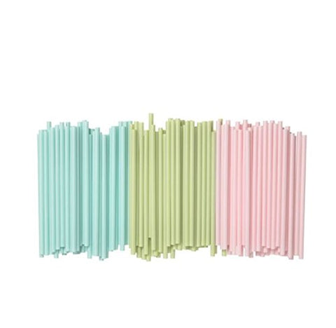 Ikea New Sotvtten Drinking Straw / Straw Yogurt/Smoothie Straws? Coarse Straw, Light Green, Light Blue, Light Pink