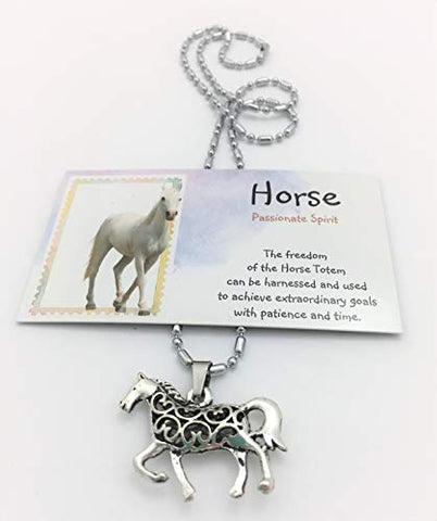 Smiling Wisdom - Horse Hollow Necklace Gift Set - Spirit Totem Animal Totem For Children, Tweens, Teens, Girls, Adults, Friends - Team Morale Events, Ice Breakers, Favors, Bff - Closeout