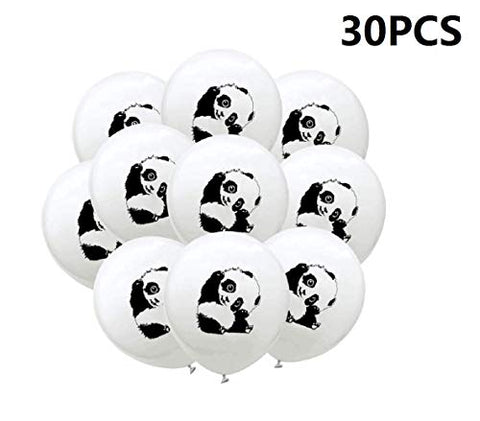 30Pcs Latex Balloons Panda Printed Party Balloons For Birthday Party Decoration
