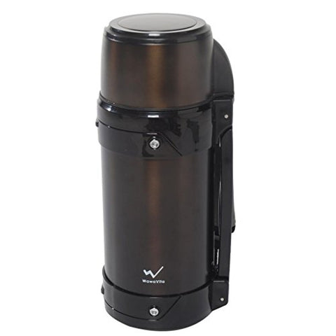 On Sale!Wawavita Stainless 50-Ounce/1.5L Thermos Double Walled Vacuum Flask, Camping Kettle, Outdoor Vacuum Kettle, Sports Travel Mug, Dark Grey