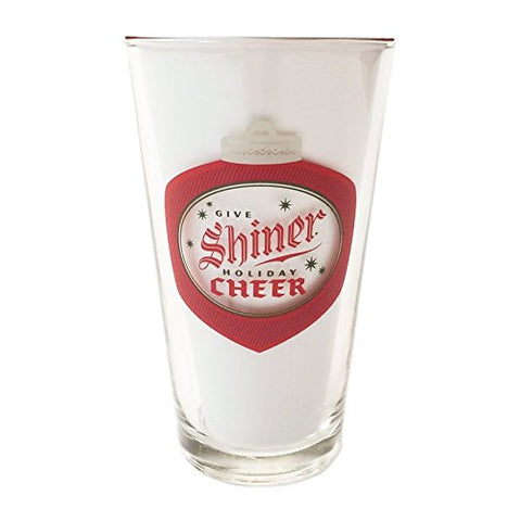 Spoetzl Brewery Shiner Christmas Holiday Cheer Beer Pint Glass New