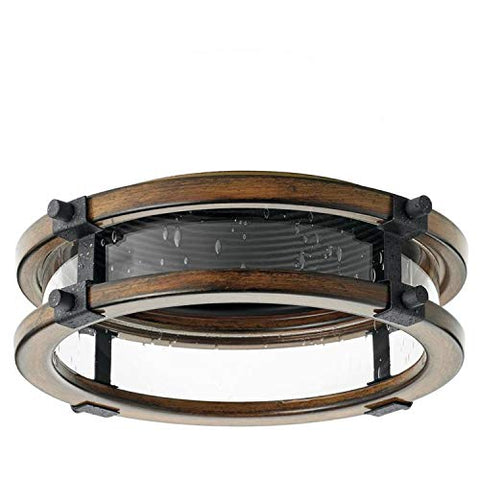 Kichler Barrington Distressed Black And Aged Wood Baffle Recessed Light Trim (Fits Housing Diameter: 6-In)