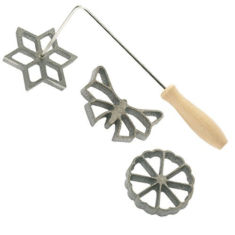 Cast Iron Rosette Iron Set By Sci Scandicrafts