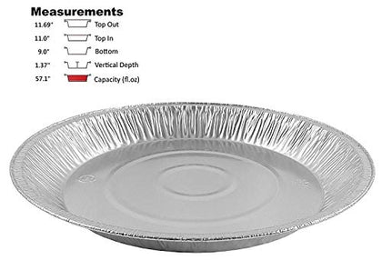 Pactogo 12  Aluminum Foil Pie Pan Extra-Deep Disposable Tin Plates