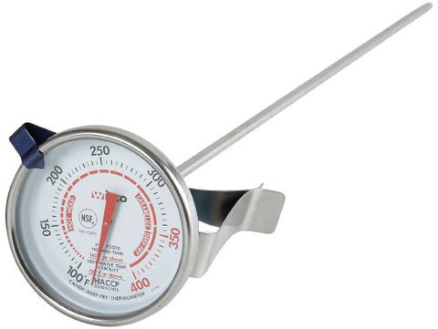 Winco 2-Inch Dial Deep Fry/Candy Thermometer With 12-Inch Probe