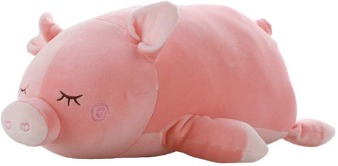 Elastic Pig Plush Stuffed Animal - Super Soft Piglet Plush Toys For All Ages  Cute Piggy Doll Throw Pillows - Pink- Measures 23 Inch