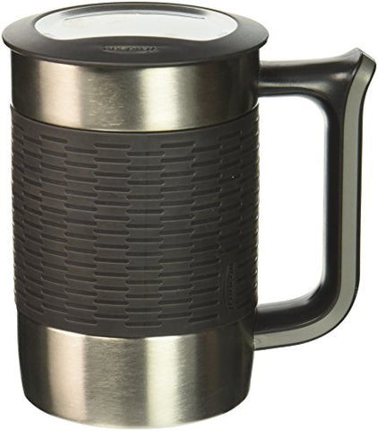 Trudeau Boardroom Ii Desk Mug, 16 Oz, Charcoal/Grey