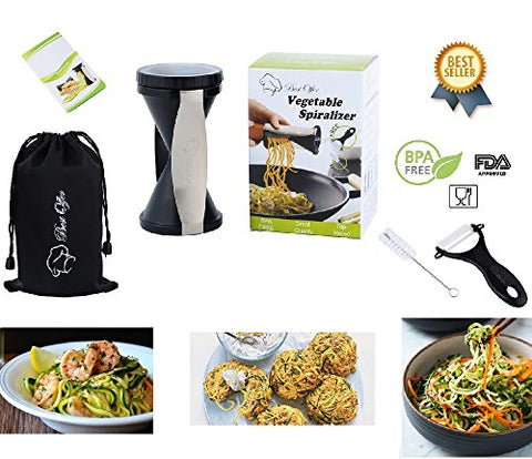 Bestoffer Spiral Slicer Spiralizer Complete Bundle Vegetable Spiralizer And Cutter Zucchini Pasta Noodle Spaghetti Maker