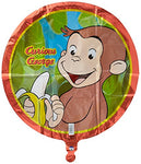 Unique Industries 15870 Curious George Foil Flat Balloon, 18