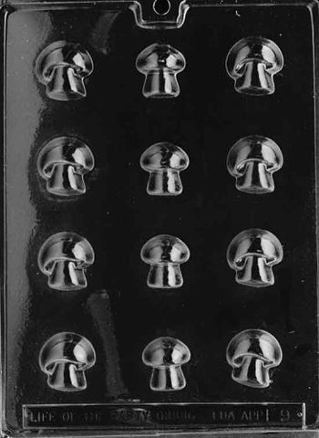 Cybrtrayd F009 Mushrooms Chocolate Candy Mold With Exclusive Cybrtrayd Copyrighted Chocolate Molding Instructions