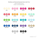 Andaz Press Chocolate Drop Labels Trio, Fits Hershey'S Kisses, Wedding Just Married, Diamond Blue, 216-Pack, Robin'S Egg Blue Party Decorations