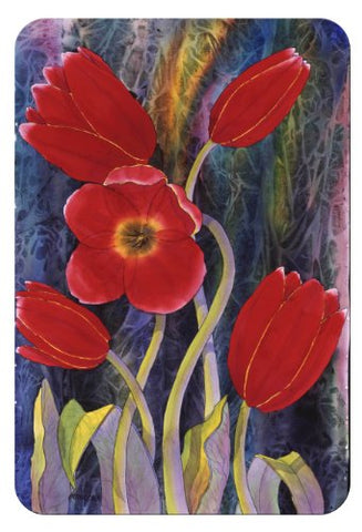 Mcgowan'S Tuftop Red Tulips Cutting Board
