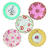 Royal Albert 5 Piece 100 Years 1950-1990 Plate Set, 8, Multicolor
