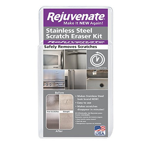 Rejuvenate Stainless Steel Scratch Eraser Kit Safely Removes Scratches Gouges Rust Discolored Areas Makes Stainless Steel Look Brand New  6 Piece Kit