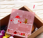400Pcs Merry Christmas Cookie Treat Bags Self Adhesive Packaging Opp Bags Candies Cookies Sweets Gifts