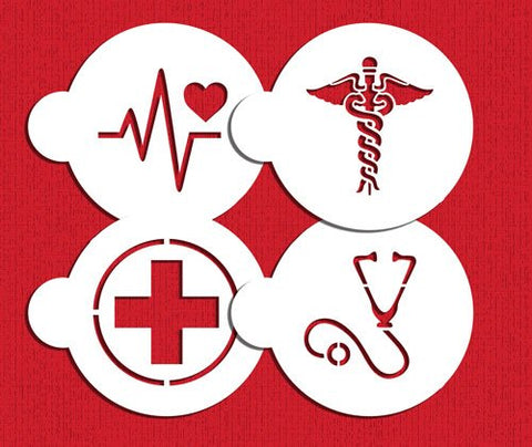 Medical Symbols Cookie Stencil Set C992 By Designer Stencils