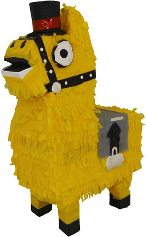 Lytio Loot Llama Yellow Pinata Perfect For Decorations, Gaming Themed Parties, Kids Birthdays, Photo Prop, Mexican Piata Game