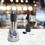 Vinturi Rechargeable Wine Opener With Base, Silver
