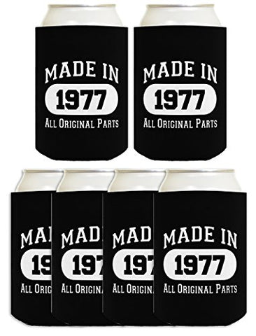 40Th Birthday Gift Coolie Made 1977 Can Coolers Coolies Black