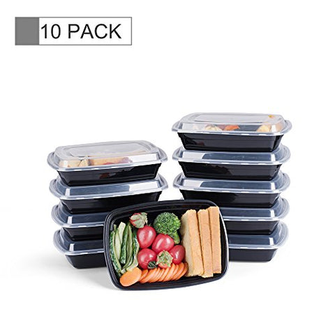 Glotoch 1 Compartment Meal Prep Food Storage Containers With Lids, 32 Ounce