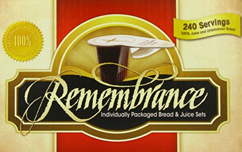 Remembrance Individually Packaged Bread & Juice Sets, 240 Servings