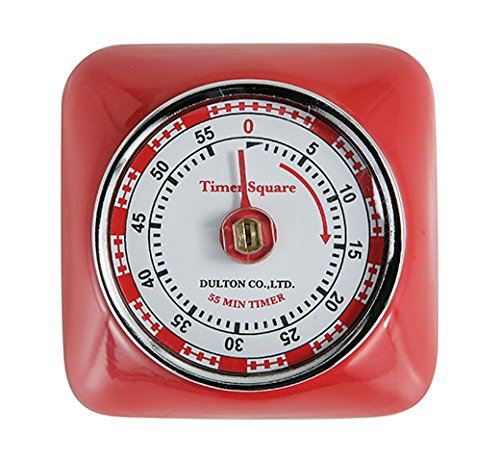 Magnetic 55 Minute Kitchen Timer Square - Red