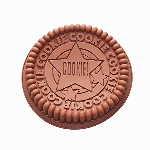 X-Haibei Giant Sandwich Oreo Cookie Cake Pan 7.5Inch Rock Star Baking Silicone Mold