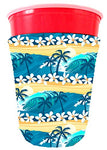 Coolie Junction Tropical Waves Beach Pattern Solo Cup Coolie