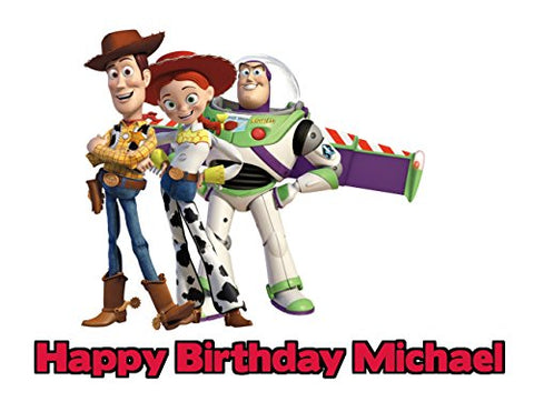 Toy Story Edible Image Photo Cake Frosting Icing Topper Sheet Personalized Custom Customized Birthday Party - 1/4 Sheet - 79186