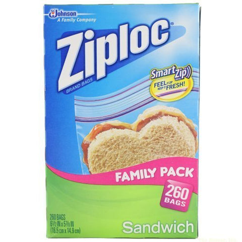 Ziploc Sandwich Bag Family Pack (260 Bags)