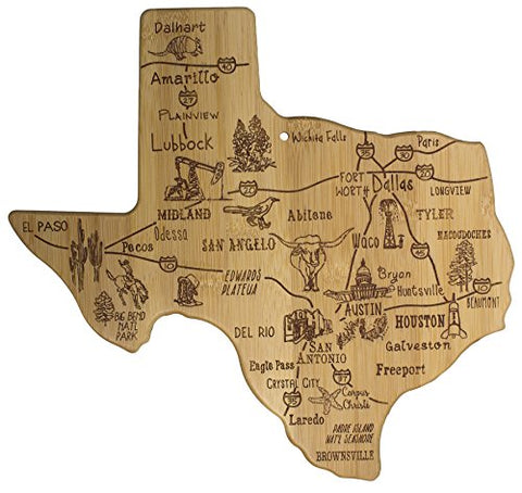 Totally Bamboo Destination State Serving Board, Texas, 100% Bamboo Board For Serving Food And Entertaining