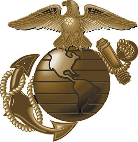 Whimsical Practicality Us Marines Emblem Edible Icing Image For 1/4 Sheet Cake