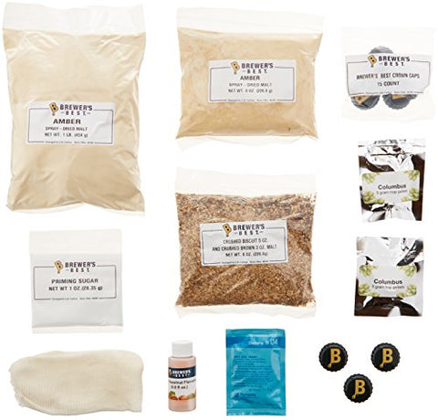 Home Brew Ohio Brewer'S Best One Gallon Beer Ingredient Kit-Hazelnut Amber Ale, Brown