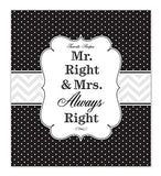 Recipe Binder Set With Plastic Page Protectors And Recipe Cards, Mr. And Mrs. Right