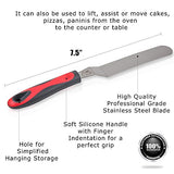 Icing Spatula 7.5In Angled|Soft Ergonomic Silicone Grip Handle And Sturdy Stainless Steel Blade|Perfect For Professional Frosting And Decorating Cookies-Cakes-Cupcakes-Brownies-Desserts By Elsterware