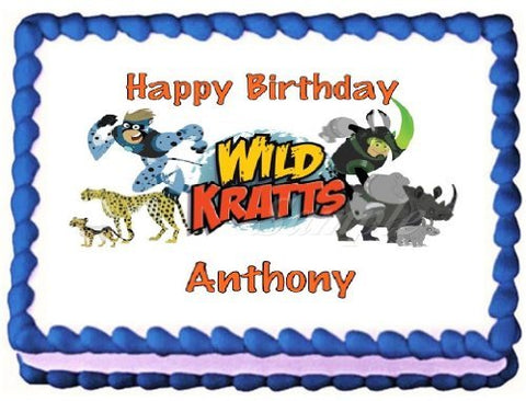 Wild Kratts Edible Frosting Sheet Cake Topper #2 - 1/4 Sheet