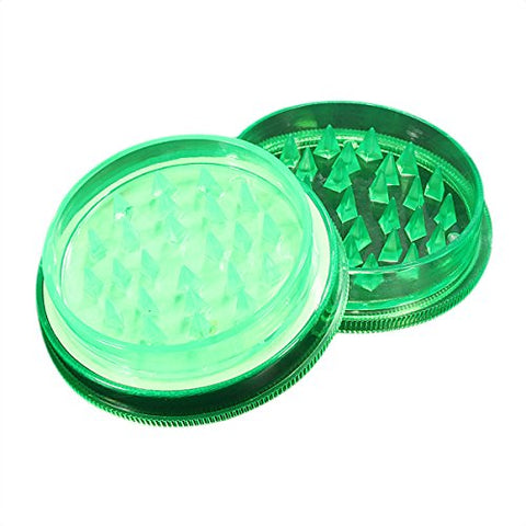Tobacco Grinder - Toogoo (R) 1 Pcs Grinder Crusher Tobacco Cigar 2 Parties Plastic Grass Mill Color Random