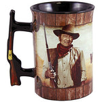 John Wayne A Man'S Gotta Do What A Man'S Gotta Do Coffee Mug W/ Rifle Handle