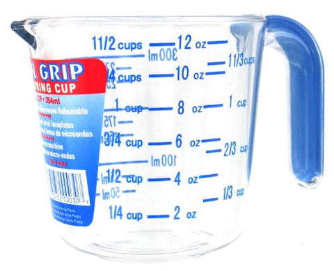 Arrow Plastic 00030 1-1/2 Cup Cool Grip Measuring Cup